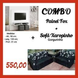 Painel +  sofá diversas cores