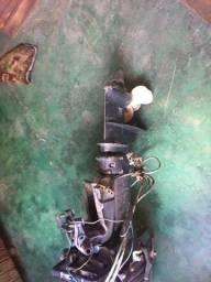 Motor yamaha 25 HP+tanque+conj partida eletrica