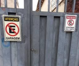 Placa para portão