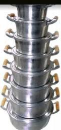 JOGO de panela aluminio batido 5 peças $320 reais