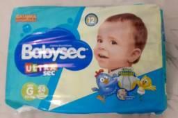 Fralda Babysec G com 24 fraldas por pacote