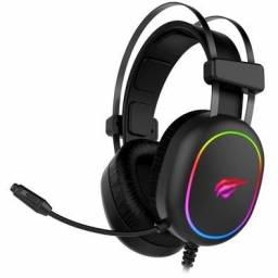 Headset Gamer Havit H2016D, RGB Novo Trabalhamos com cartoes