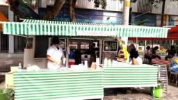 Passagem do ponto de Caldo de Cana em feira de Domingo - Vila Prudente