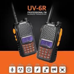 Kit 2 Radio Ht Walk Talk Dual Band Uhf Vhf Fm Baofeng Uv6r