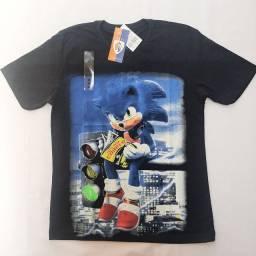 Camisetas personagem. P/M/G/GG. Apenas R$ 33,00 cada.