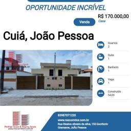 Casa para Venda em João Pessoa, Cúia, 2 dormitórios, 1 suíte, 1 banheiro, 1 vaga