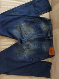 Calça bluesteel (Renner) masculina skinny em moletom com tintura imitando jeans n° 40