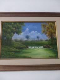 Quadro pintura paisagem para sala