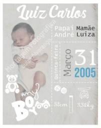 Registro do bebê - Montagem de Foto
