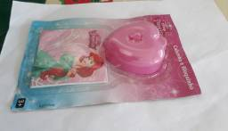Kit Porta Jóias e Bloquinho Princesas Disney