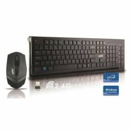 Kit Teclado e Mouse Sem Fio USB Feasso FATC-30 Preto<br><br>