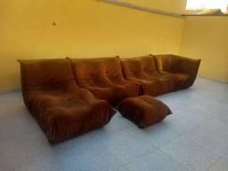 Conjunto Sofa em nobuck ergonomico