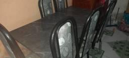 Mesa de mármore 6 cadeiras recém tirada da loja