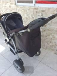 Kit carrinho + bebê conforto + base