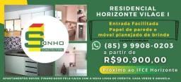 Apartamentos Novos em condominio fechado horizonte