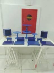 Kit desapego 14 peças azul