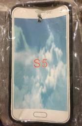 Capa protetora para celular Samsung S5.