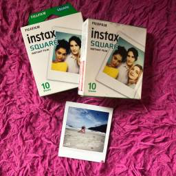 Pack com 10 Filmes polaroid Instax Square Fujifilm