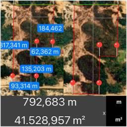 Terreno com 4 hectares (pode financiar pelo banco)