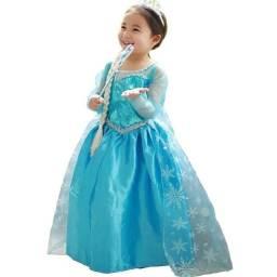 Fantasia frozen vestido princesa Elsa frozen novo
