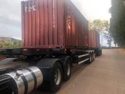 Rodotrem 9 eixos pneumático porta container