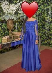 Vestido social cor Azul