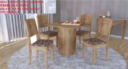 Mesas de jantar com 4 cadeiras em promoção a partir de 429.00