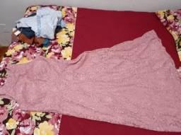 Vestido Festa rose