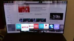 Tv tamanho 55 pol c/wifi ja ela e Curva full hd de LED