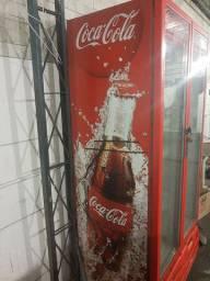 Freezer vertical porta dupla Coca Cola