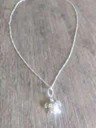 Kit cordão + pulseira de prata