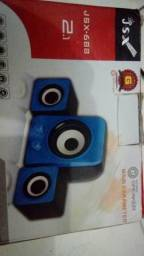 Caixa De Som 2.1 Subwoofer Usb Infokit Vc-G200 Pre