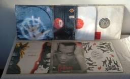 "Lote 7 discos de vinil raríssimos importados 12"" singles dance e r&b anos 90"