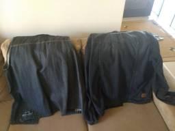 Jaqueta jeans e colete jeans