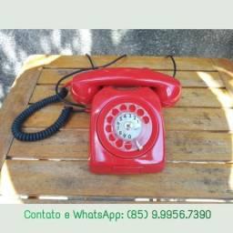 R$120 Telefone antigo Ericsson vermelho esta funcionando