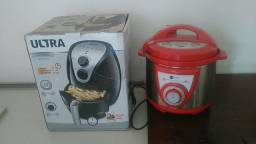 Fritadeira e panela de pressão eletrónica