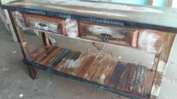 Aparador rústico madeira d demolicao