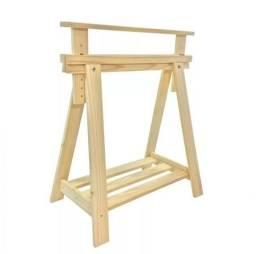 Cavaletes de madeira ajustáveis