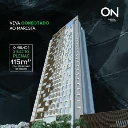 On Marista Design, Apartamento no Setor Marista Goiânia, 3 Suítes 115m²