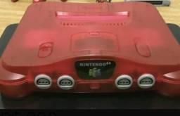 Nintendo 64 vermelho cereja