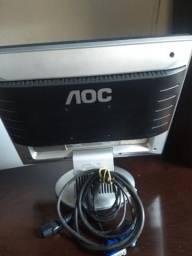 """Monitor AOC LCD 14"""" super novo"""