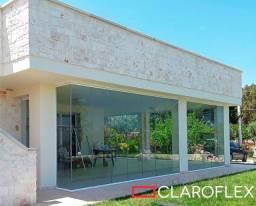 Cortina de vidro ( sem roldanas ) - Claroflex