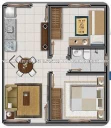 Casa com 2 dorm em Nova Santa Rita, com pátio