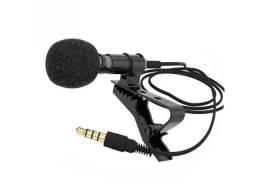 Mini Clip-on Microfone De Lapela Microfone Condensador 3.5mm