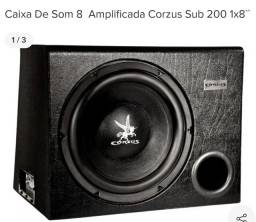 Caixa de som amplificada sub 8 polegadas