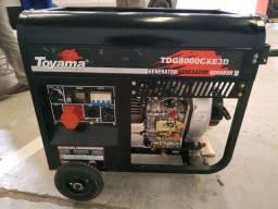 Gerador TDG8000CXE3D Toyama Diesel Novo