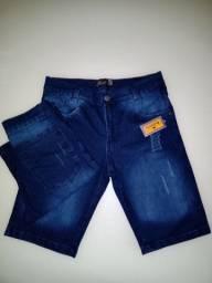 Shorts jeans com lycra , numeração do 36 ao 46
