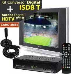 Kit converso digital c antena frete Grátis