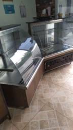 Freezer e estufa balcão
