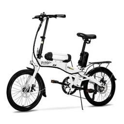 Bike Dobrável Pliage Elétrica 350w Plus Two Dogs Aro 20 Shimano 7v ? Branca<br><br>